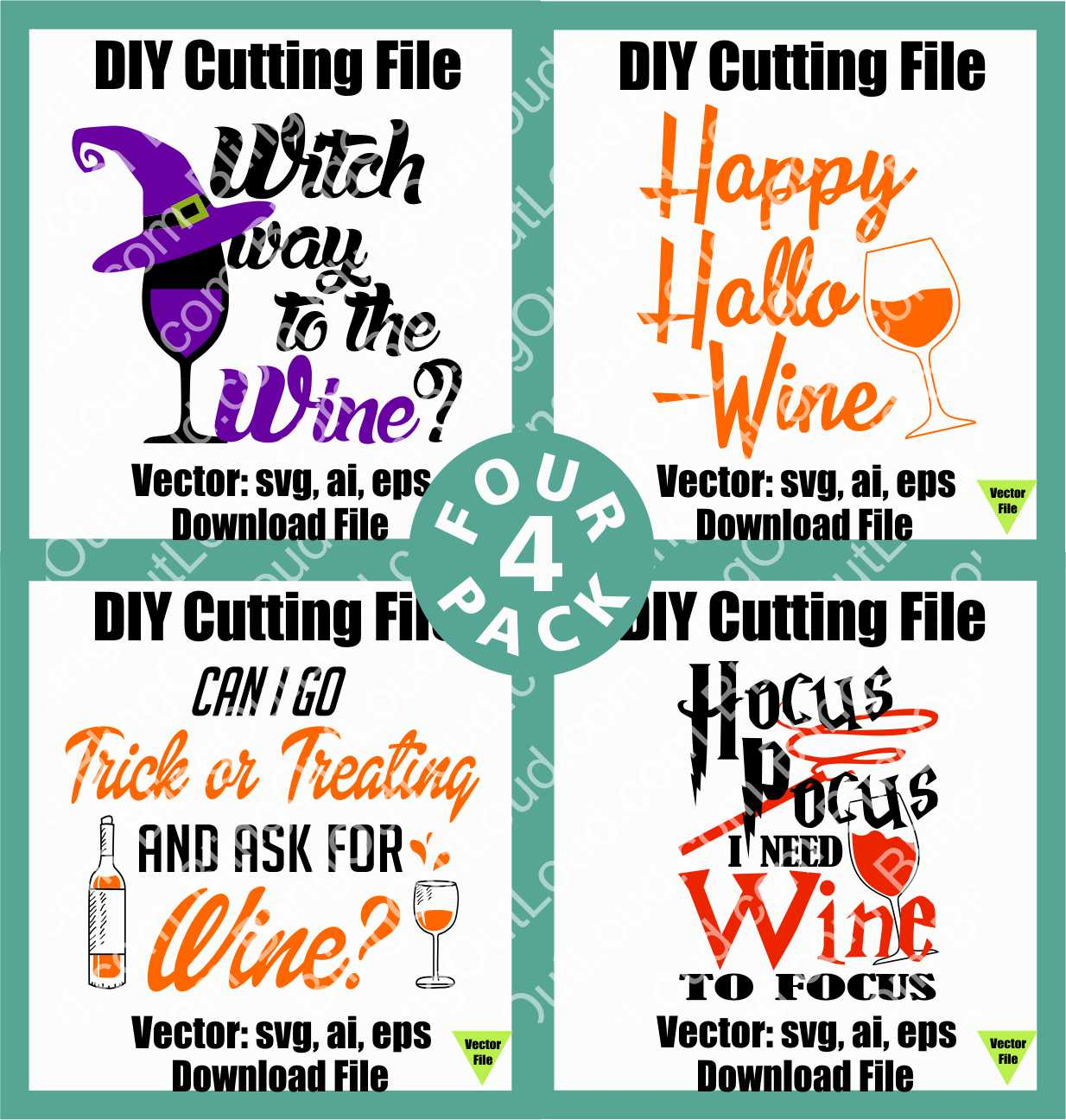 Hallo-WINE Vectors for the Fun Side of the Season